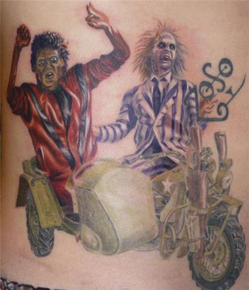 Really terrible Michael Jackson Tattoos from TeamJimmyJoe.com, list of the worst